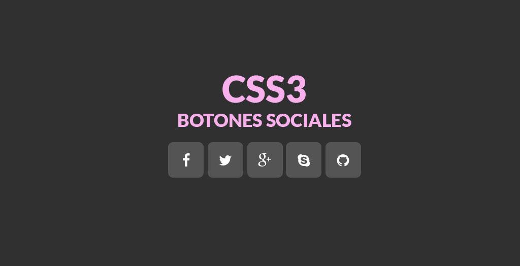 Botones sociales en CSS3
