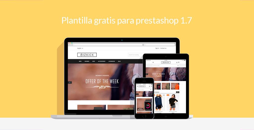 Plantilla gratis para Prestashop 1.7