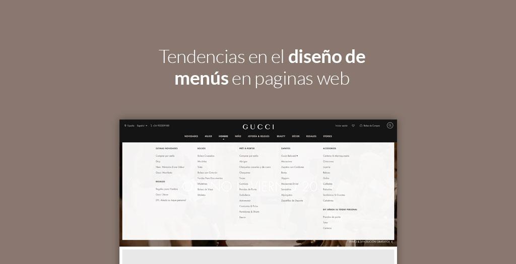 Tendencias en el diseño de menús en paginas web