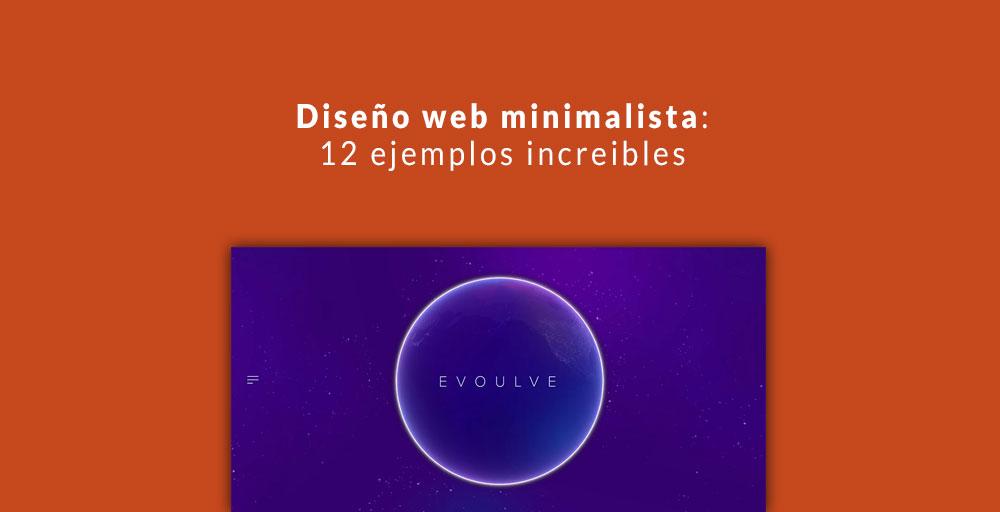 Diseño web minimalista: 12 ejemplos increibles
